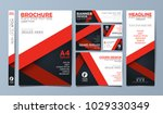 red corporate identity set... | Shutterstock .eps vector #1029330349