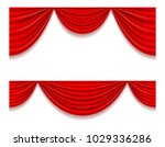 red theatrical curtain vector... | Shutterstock .eps vector #1029336286