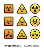 set hazard warning radioactive... | Shutterstock .eps vector #102934049