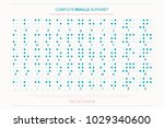 international braille alphabet... | Shutterstock .eps vector #1029340600