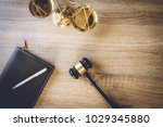working space of lawyer with... | Shutterstock . vector #1029345880