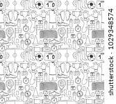 vector hand drawn doodle... | Shutterstock .eps vector #1029348574