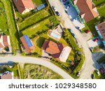 aerial view of new family... | Shutterstock . vector #1029348580
