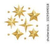 golden glitter stars vector set ... | Shutterstock .eps vector #1029349018
