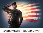 national anthem is played. army ... | Shutterstock . vector #1029359290