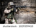 us marine corps soldier in... | Shutterstock . vector #1029359410