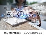 iot  automation  industry 4.0.... | Shutterstock . vector #1029359878
