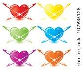 vector modern glossy color... | Shutterstock .eps vector #102936128