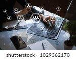 organisation structure chart ... | Shutterstock . vector #1029362170