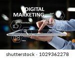 digital marketing technology... | Shutterstock . vector #1029362278