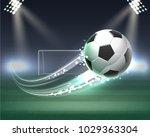 flight of the ball against the... | Shutterstock .eps vector #1029363304