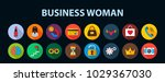 business woman flat icon... | Shutterstock .eps vector #1029367030