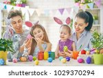 mother  father and daughters... | Shutterstock . vector #1029370294