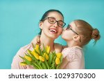 happy women's day  child... | Shutterstock . vector #1029370300