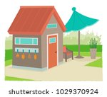 modern style garden shed with... | Shutterstock .eps vector #1029370924