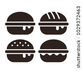 hamburger icon set isolated on... | Shutterstock .eps vector #1029372463