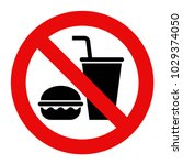 no food and no drinks allowed... | Shutterstock .eps vector #1029374050
