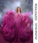 beautiful woman in gorgeous...   Shutterstock . vector #1029374536