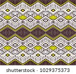 ikat geometric folklore... | Shutterstock .eps vector #1029375373