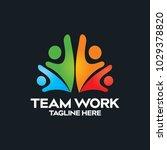 team work logo icon vector | Shutterstock .eps vector #1029378820
