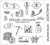 bitcoin elements hand drawn... | Shutterstock .eps vector #1029378958