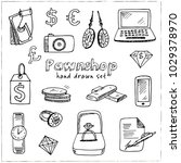 pawnshop hand drawn doodle set. ...   Shutterstock .eps vector #1029378970