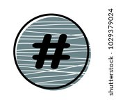 hashtag sign icon vector... | Shutterstock .eps vector #1029379024