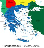 Greece-political map