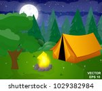 landscape. recreation. journey. ... | Shutterstock .eps vector #1029382984