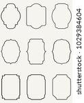 vector vintage border... | Shutterstock .eps vector #1029384604
