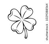 clover four leaf contour. st.... | Shutterstock .eps vector #1029388564