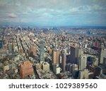 manhatten from above | Shutterstock . vector #1029389560