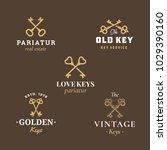 retro keys emblems set.... | Shutterstock .eps vector #1029390160
