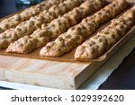 italian biscotti in the process ... | Shutterstock . vector #1029392620