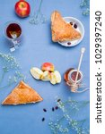 apple turnovers served on the...   Shutterstock . vector #1029397240