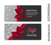 set of gift voucher card... | Shutterstock .eps vector #1029400066