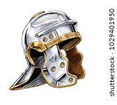 armor of roman soldier | Shutterstock . vector #1029401950