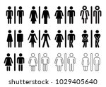 people  man and lady toilet  wc ... | Shutterstock .eps vector #1029405640
