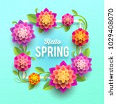 spring greeting card with... | Shutterstock .eps vector #1029408070