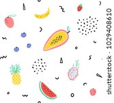 background  tropical  fruit ... | Shutterstock .eps vector #1029408610