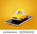smartphone application of taxi... | Shutterstock . vector #1029410230