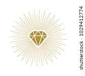 glitter gold shining diamond... | Shutterstock .eps vector #1029412774