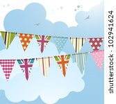 Bunting Background With Union...