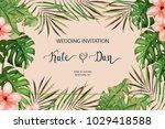 wedding card. invitation...   Shutterstock .eps vector #1029418588