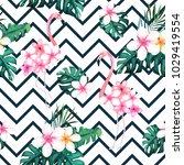 exotic summer print. seamless... | Shutterstock .eps vector #1029419554