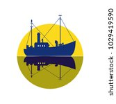Commercial Fishing Trawler Ico...