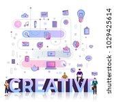 "flat design typography concept ""... | Shutterstock .eps vector #1029425614"