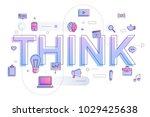 "flat design typography concept ""... | Shutterstock .eps vector #1029425638"