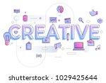 "flat design typography concept ""... | Shutterstock .eps vector #1029425644"