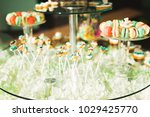 delicious sweets on wedding... | Shutterstock . vector #1029425770